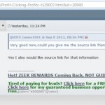 DISTURBING: 'ProfitClicking' Thread At MoneyMakerGroup Ponzi Forum Used In Zeek-Related Disinformation Campaign That Delivers Traffic To Troy Dooly's Blog While Creating Brand Confusion And Opportunity To Harvest Leads For Poster Known As 'freezeekler'