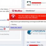 McAfee Site Advisor Issues Phishing Warning On 'UPrivateBanking,' Program Targeted At Profitable Sunrise Victims
