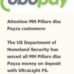 Conflicting Reports Over Status Of U.S. Payza Funds: Frozen? Withheld By Vendor? Seized By Department Of Homeland Security?